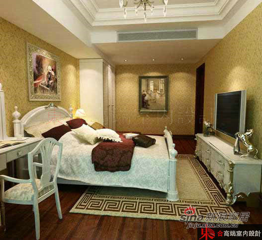 欧式 别墅 卧室图片来自用户2772873991在200平低调奢华欧式风62的分享