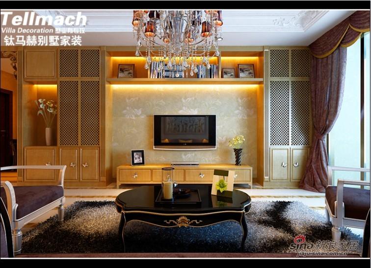 欧式 四居 客厅图片来自用户2746953981在11万打造180平新欧式风格98的分享