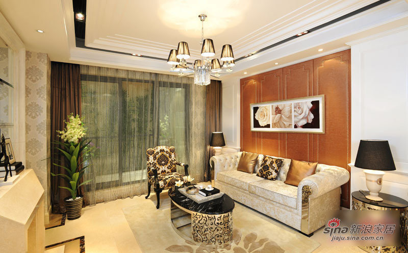 混搭 三居 客厅图片来自用户1907655435在11万清包精装125平混搭3居33的分享