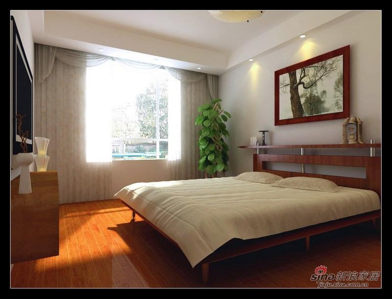 简约 一居 卧室图片来自用户2556216825在水木天成95平自然简约2居室26的分享