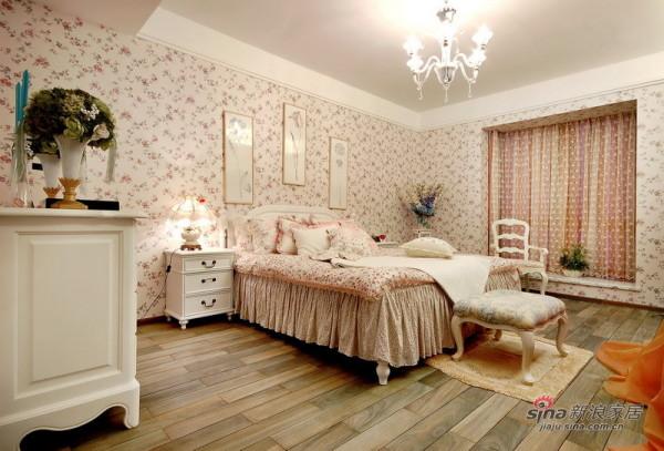 田园 二居 卧室图片来自用户2737946093在甜蜜浪漫5万实现85平英式田园小资梦想58的分享
