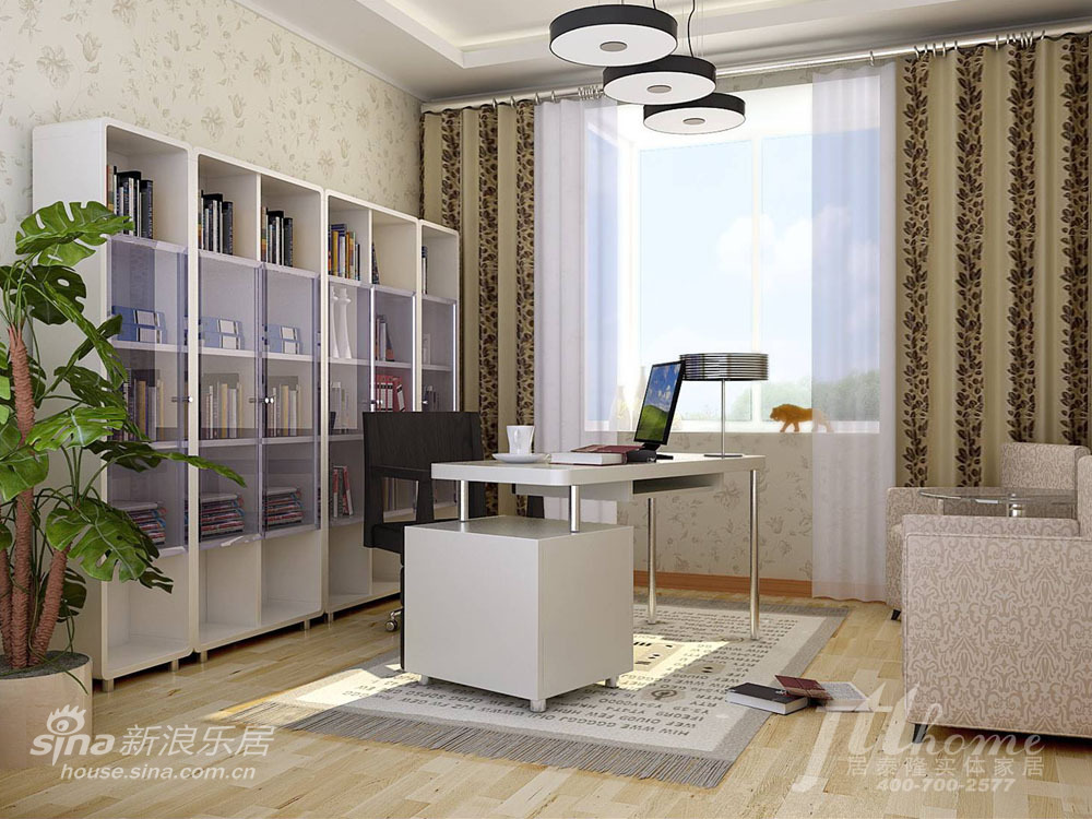 简约 二居 书房图片来自用户2557010253在花季物语!打造温情浪漫两居室98的分享