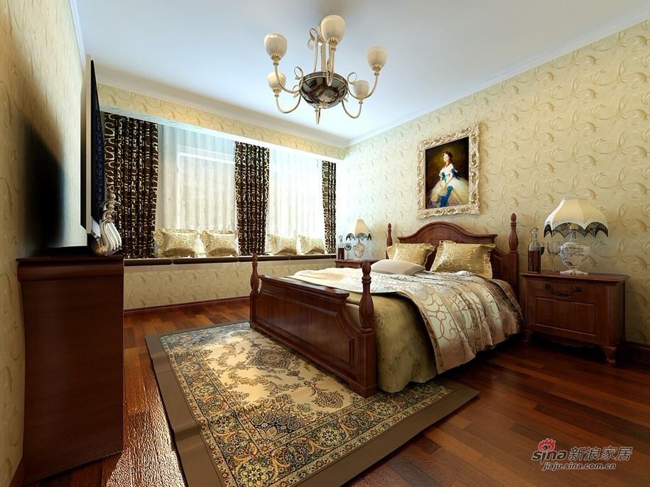 欧式 二居 卧室图片来自用户2745758987在130平品味完美欧式情调30的分享