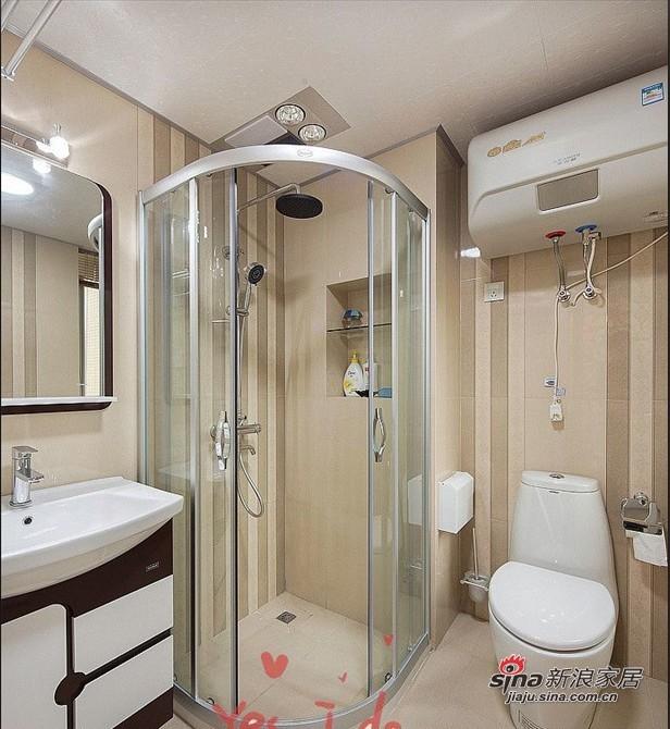 简约 二居 卫生间图片来自用户2737950087在80后爱侣5.6万装95平两居简约婚房70的分享