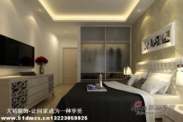 现代简约风格家庭装修设计-卧室装修效果图