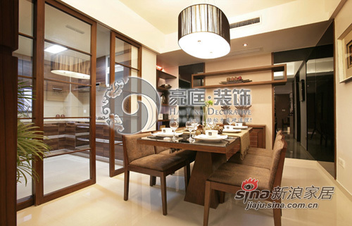 中式 三居 餐厅图片来自用户1907658205在6万装138平新中式家48的分享