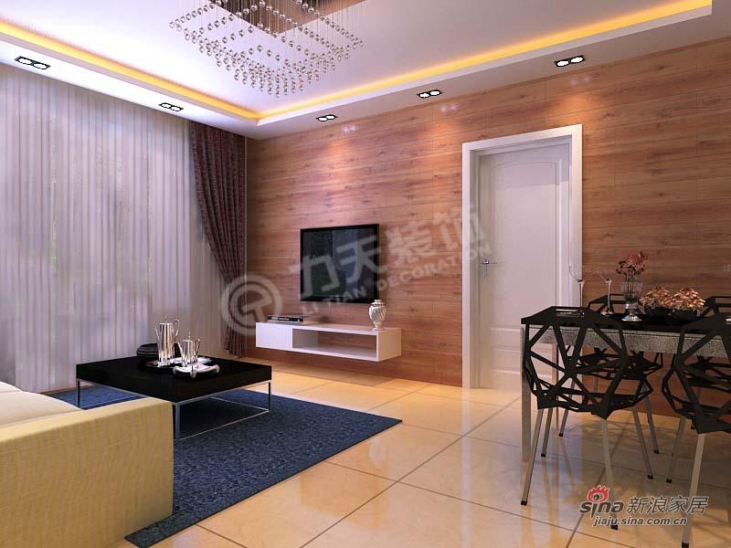 简约 二居 客厅图片来自阳光力天装饰在融侨观邸-2室2厅1卫-现代简约84的分享