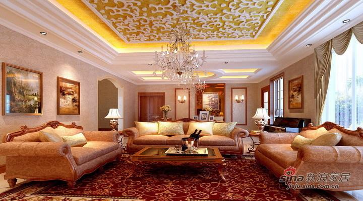 欧式 复式 客厅图片来自用户2746889121在16万打造地中海阳光237平简欧复式63的分享