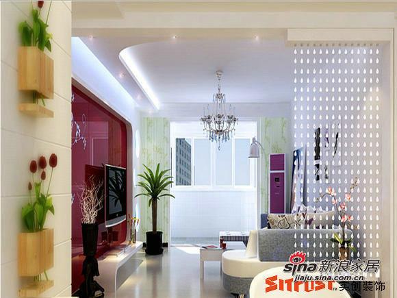 简约 二居 客厅图片来自用户2737735823在5.6万装87平简约经典2居室58的分享