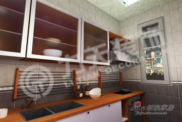 混搭 三居 厨房图片来自阳光力天装饰在90平三室绝对混搭74的分享