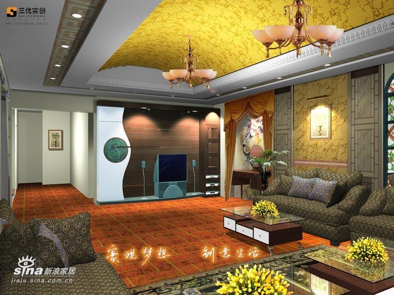 欧式 别墅 客厅图片来自用户2746889121在温哥华森林别墅28的分享