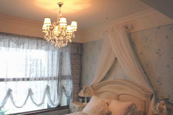 儿童房----窗纱和床头背景的搭配