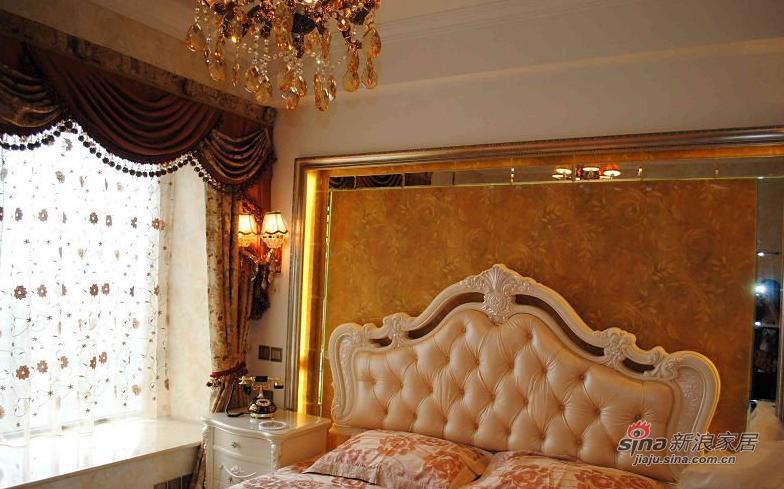 欧式 三居 卧室图片来自用户2757317061在9万120平简约欧式三口之家61的分享