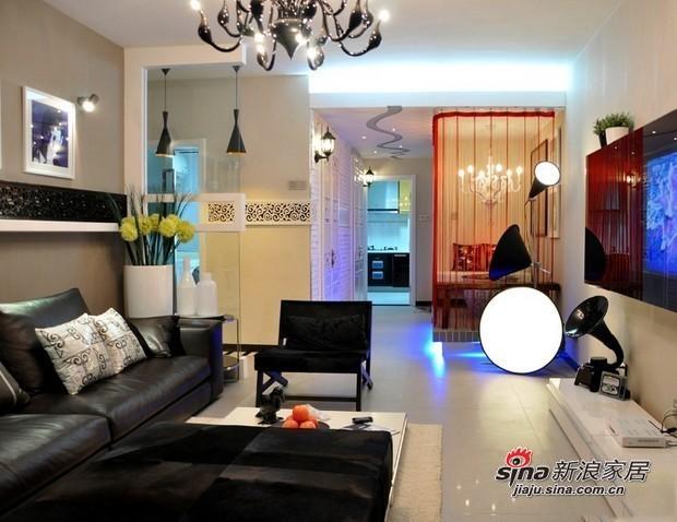 混搭 三居 客厅图片来自用户1907691673在6.5万元装扮100平混搭潮流3居86的分享