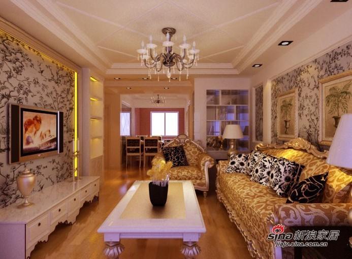 欧式 三居 客厅图片来自用户2745758987在7.2万铸造欧式奢华三居室42的分享