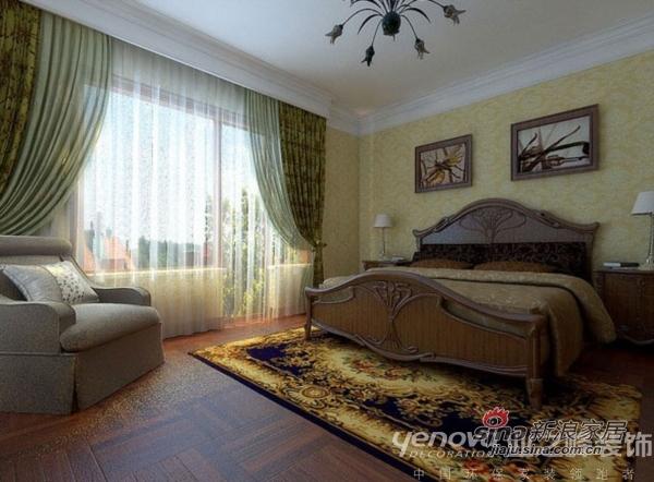 美式 别墅 卧室图片来自用户1907686233在美式怀旧 红磡领世郡别墅92的分享