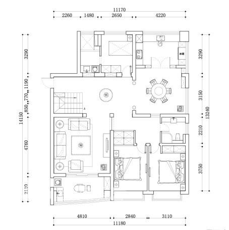胥江府1楼设计图