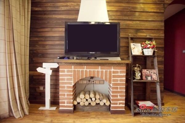 美式乡村-装修效果图-客厅:电视背景墙选