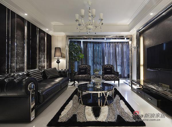 现代为主题,黑色的真皮沙发。