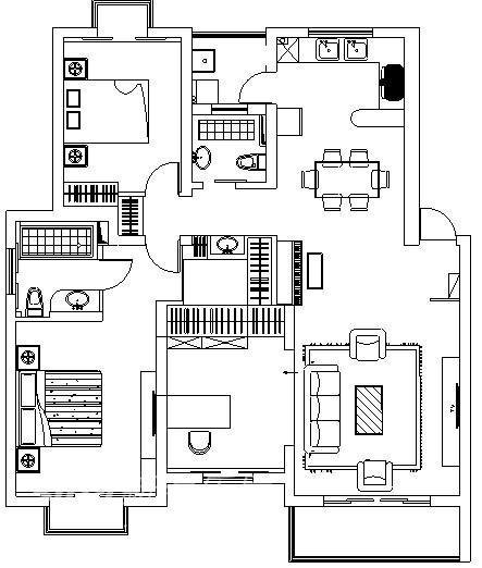 中式 三居 户型图图片来自用户2748509701在美兰湖 颐景园48的分享