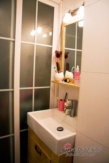 简约 一居 卫生间图片来自用户2745807237在3万全包47平阳光房 一个人的地老天荒35的分享