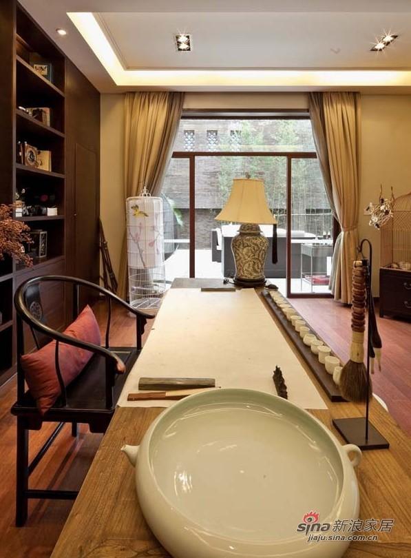 中式 别墅 书房图片来自用户1907658205在【高清】经典新中式风格样板房67的分享
