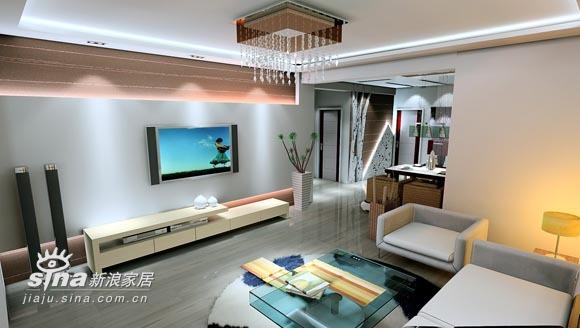 简约 三居 客厅图片来自用户2556216825在实创装饰绿城百合38的分享