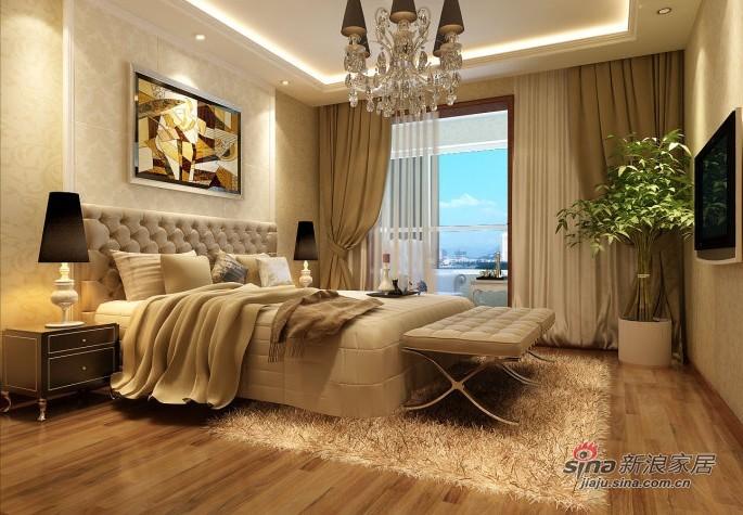 欧式 三居 卧室图片来自用户2772856065在6.7W装扮你现代简欧风格的三居室38的分享