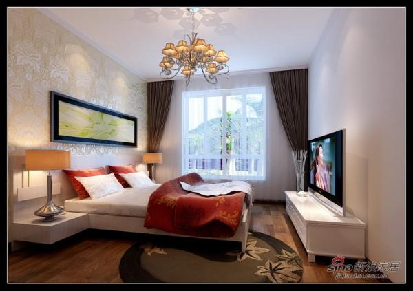 简约 三居 卧室图片来自用户2737786973在110平时尚简约3居花6.6万31的分享