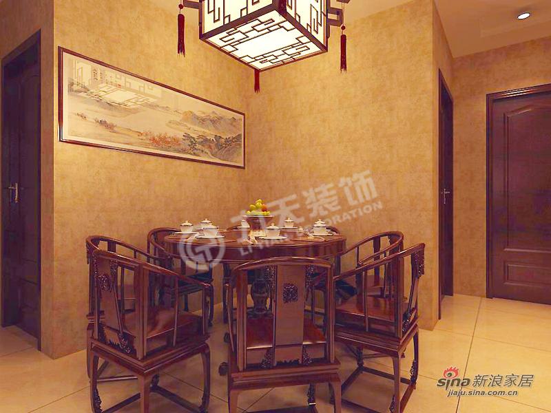 中式 二居 餐厅图片来自阳光力天装饰在天地源欧築1898-2室2厅1卫1厨 -中式风格21的分享