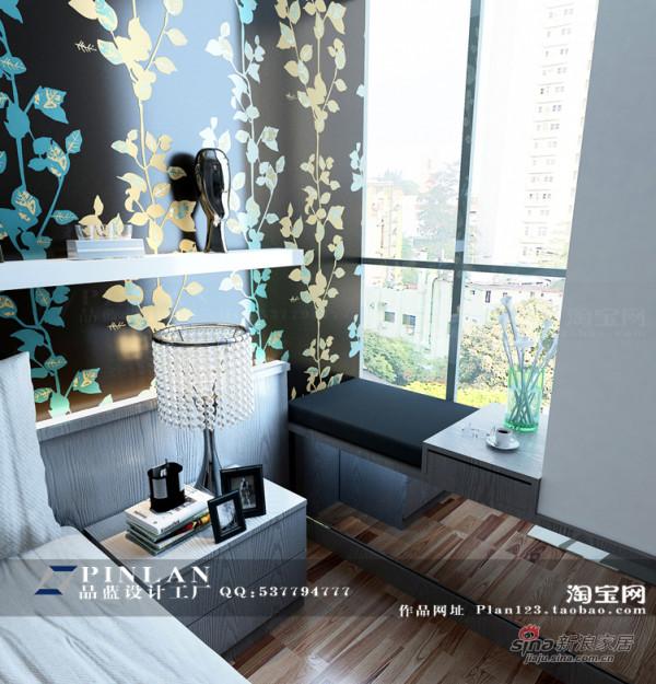 黑色树叶壁纸床头背景墙设计,简约风格主卧