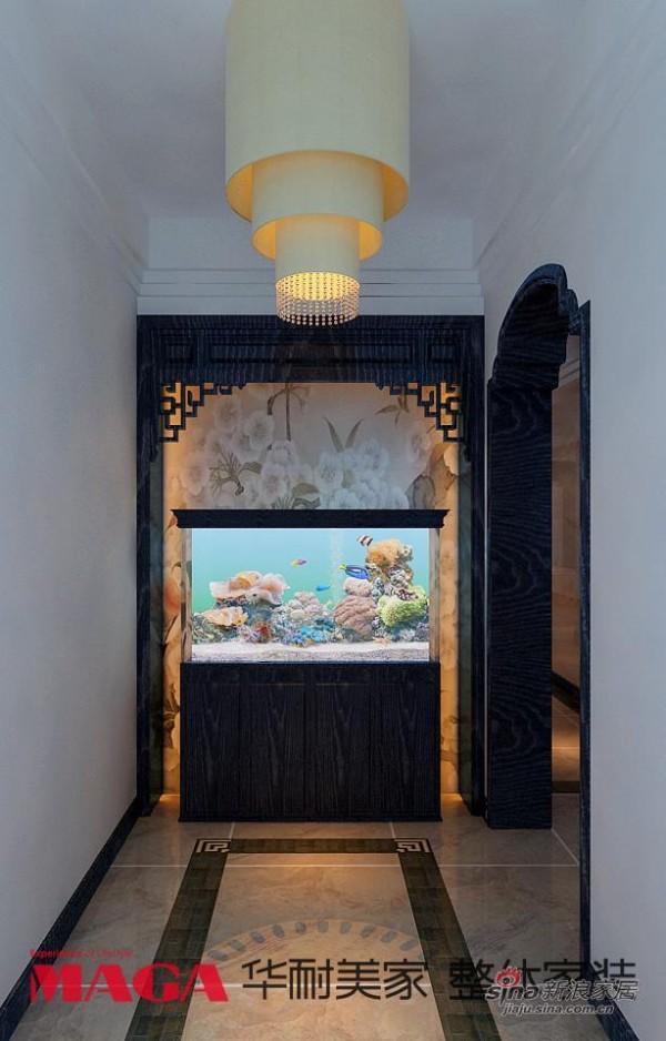 中式 别墅 玄关图片来自用户1907658205在50万打造290平高端现代新中式别墅53的分享