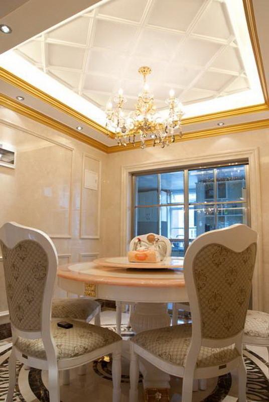 欧式奢华实拍140平米双合家园三居