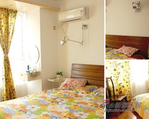田园 二居 卧室图片来自用户2737791853在小资女10万装60平田园新家19的分享