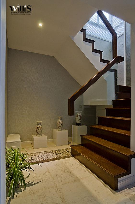 混搭 复式 楼梯图片来自用户1907689327在含蓄中式天人合一荷塘月色62的分享