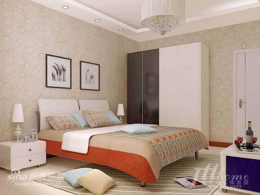 简约 二居 卧室图片来自用户2557010253在花季物语!打造温情浪漫两居室98的分享