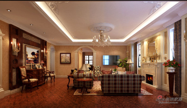 欧式 别墅 客厅图片来自用户2772873991在麦卡伦地211平欧式风格案例欣赏21的分享