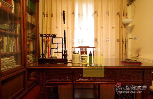 中式 三居 书房图片来自用户1907658205在22万精装135平古色古香中式三居58的分享