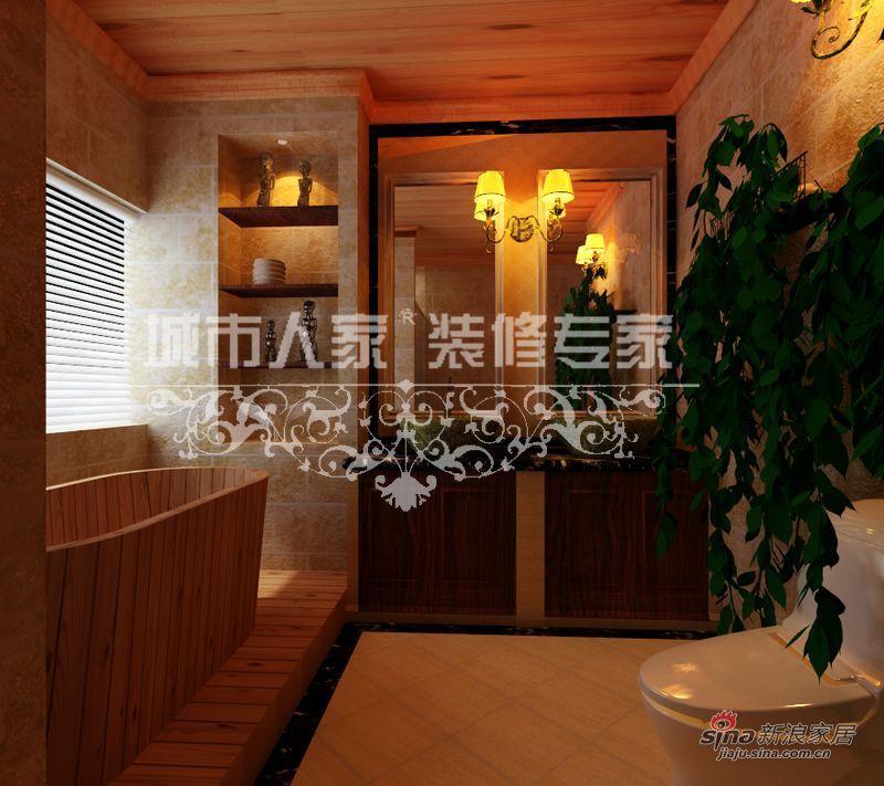 美式 别墅 卫生间图片来自用户1907685403在美式乡村别墅案例赏析35的分享