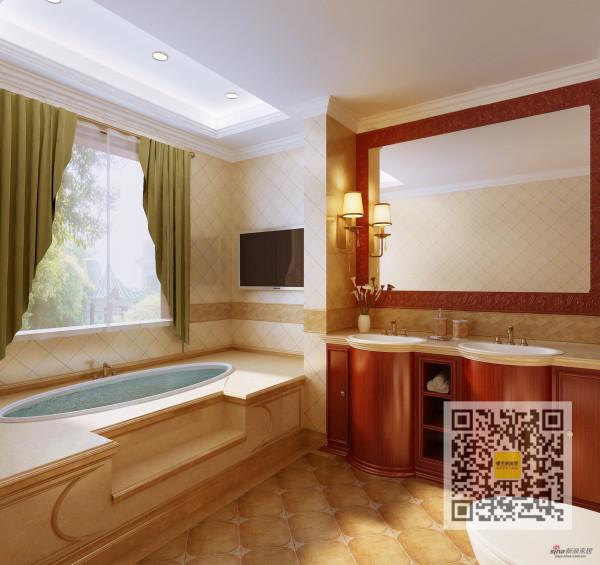 富力城欧式风格三居室装修案例