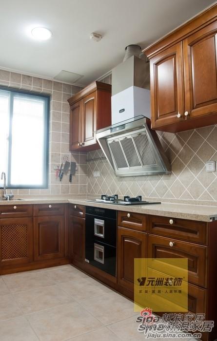 美式 别墅 厨房图片来自用户1907685403在顺义联排别墅91的分享