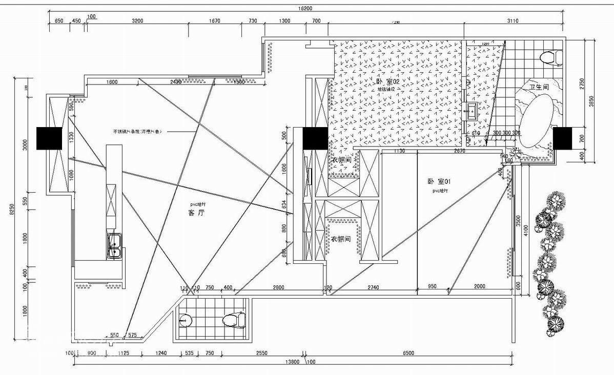 简约 复式 户型图图片来自用户2557010253在上海红星样板房之纯情素雅82的分享