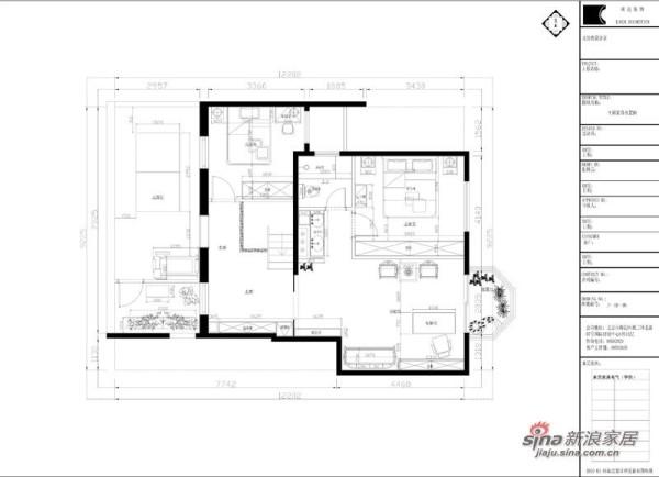 中海城香克林-一层平面家具布置图