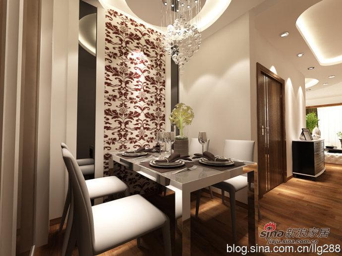 简约 二居 餐厅图片来自用户2739378857在9万打造现代简约110平两居室-实创装饰效果图70的分享
