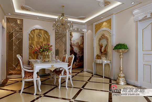 欧式 三居 餐厅图片来自用户2746869241在豪华欧式三居40的分享