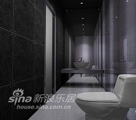 简约 三居 卫生间图片来自用户2557979841在黑白简约酷感家装99的分享