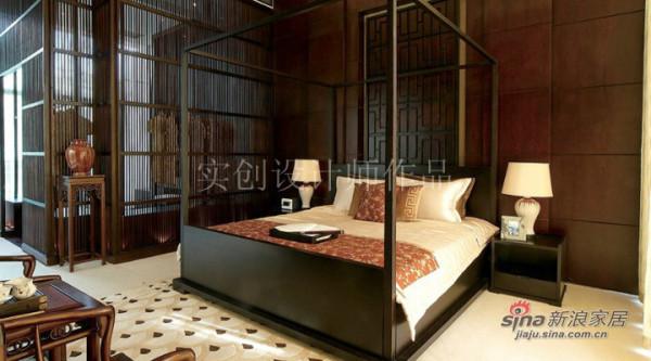 汀湘十里别墅中式风格装修设计-卧室