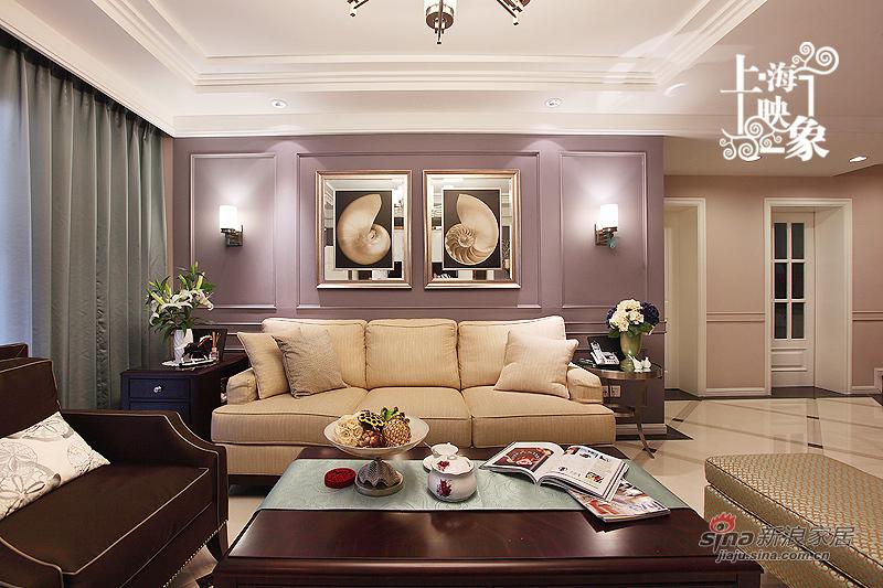 美式 三居 客厅图片来自上海映象设计-无锡站在【高清】半包15万装143平浓情巧克力38的分享
