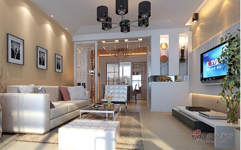 简约 二居 客厅图片来自用户2738093703在爱侣全包7.8万打造90平2居12的分享