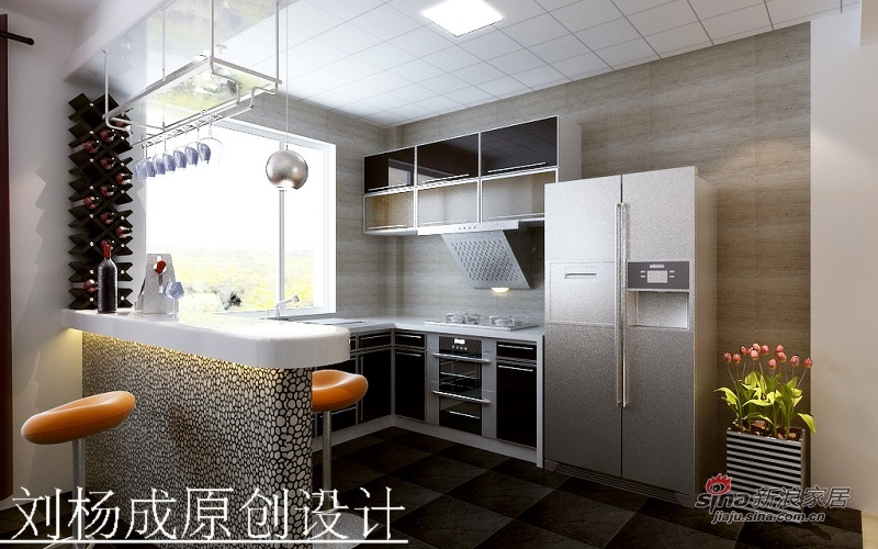 简约 二居 厨房图片来自用户2556216825在紫金新干线简约设计46的分享